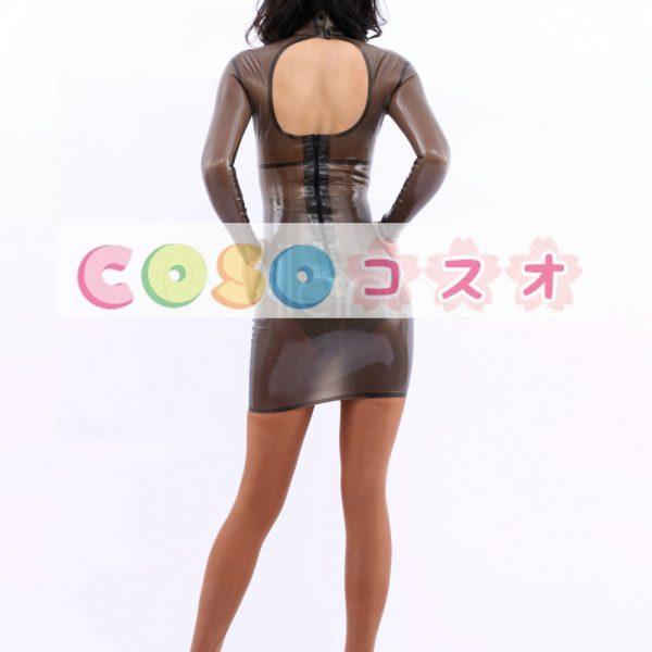 コスチューム衣装 ワンピース ラテックス トランスペアレント 大人用 女性用 ―taitsu-tights0147