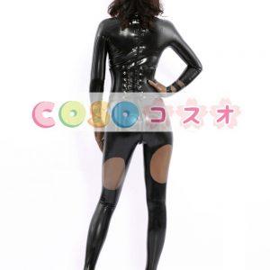 コスチューム衣装 全身タイツ メタリック ブラック レオタード ジャンプスーツ 大人用 女性用 ―taitsu-tights0149