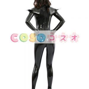 コスチューム衣装 全身タイツ メタリック ブラック レオタード ジャンプスーツ 大人用 女性用 ―taitsu-tights0292