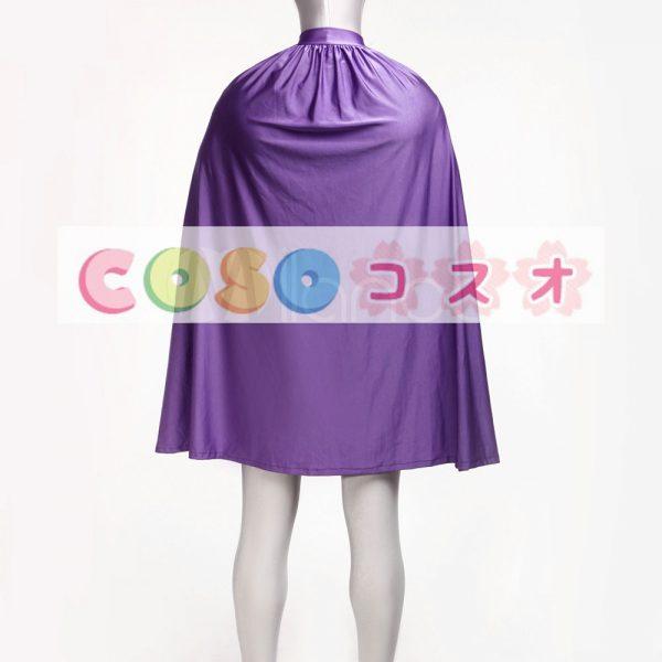 スタイリッシュな紫ライクラ スパンデックス ユニセックス キャット スーツ ポンチョ―taitsu-tights0813