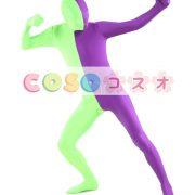 全身タイツ ユニセックス カラーブロック 大人用 開口部のない全身タイツ 仮装コスチューム ―taitsu-tights1147 2
