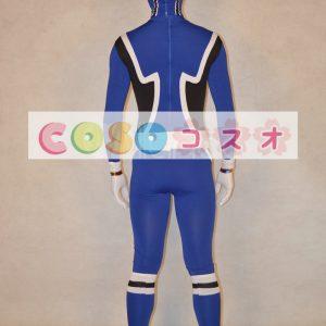 全身タイツ,大人用 ユニセックス ブルー スーパー戦隊シリーズ 仮装コスチューム カラーブロック  ―taitsu-tights1235