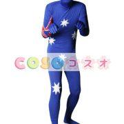 全身タイツ,オーストラリアの国旗柄 ユニセックス 大人用 コスチューム衣装 コスプレ ―taitsu-tights1291 2