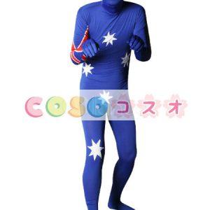 全身タイツ,オーストラリアの国旗柄 ユニセックス 大人用 コスチューム衣装 コスプレ ―taitsu-tights1291