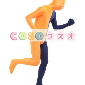 全身タイツ,ユニセックス 大人用 カラーブロック 開口部のない全身タイツ 仮装コスチューム―taitsu-tights1304