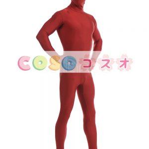 全身タイツ ダークレッド ライクラ・スパンデックス 大人用 ―taitsu-tights1175