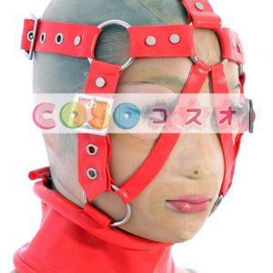 コスチューム雑貨,チョーカー レッド ラテックス 大人用 男女兼用 バックル付き―taitsu-tights0545