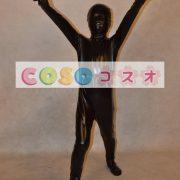 メタリック全身タイツ,ブラック ユニセックス 子供用 コスチューム衣装 開口部がない ―taitsu-tights0719 2