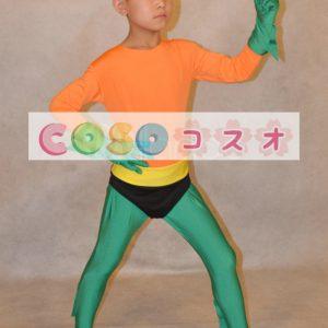 全身タイツ,子供用 ユニセックス コスチューム カラーブロック 開口部のない全身タイツ スーパーヒーロー―taitsu-tights0759