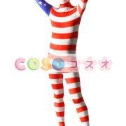 全身タイツ アメリカンの国旗柄 ユニセックス 大人用 コスチューム衣装 コスプレ ―taitsu-tights1224 2