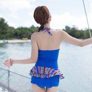 メール便送料無料♪(yuuwa) ワイヤー付き ワンピース水着 水着 ブルー  水着ー即日発送激安通販-YMS4166 2