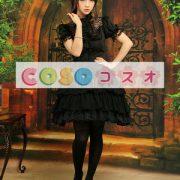 シフォンスカート ブラック ロリィタスカート レーストリム ―Lolita0003 2
