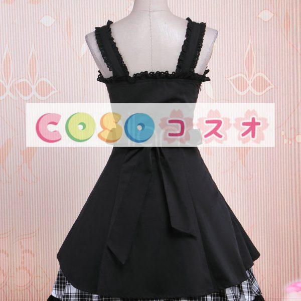 ロリィタジャンパースカート ギンガム ブラック コットン スウィート ―Lolita0012