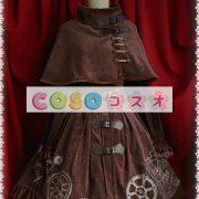 クラシック スチームパンク ロリィタジャンパースカート 歯車 プリント ―Lolita0043 2