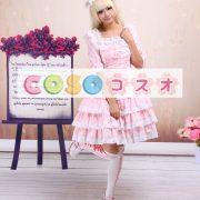 スウィート ロリィタワンピース レーストリム ピンク 半袖 ―Lolita0044 2