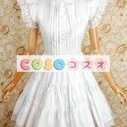 甘いの純粋な綿スタンド襟フリルの付いたロリータワン ピース ―Lolita0049 2