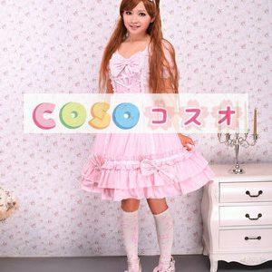スウィート ロリィタワンピース ピンク フリル コットン ―Lolita0071
