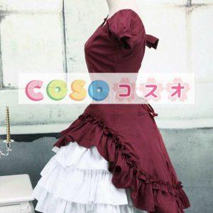 ロリィタワンピース 半袖 ホワイトフリル コットン 可愛い ―Lolita0073