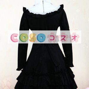 ロリータワンピース ブラック ロングスリーブ コスチューム ―Lolita0145
