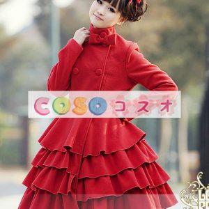 長袖レイヤード ウール ブレンド ロリータ ドレス ―Lolita0154