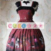 甘い弓シフォン カントリーロリータ ドレス ―Lolita0266 2