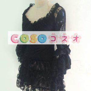 レースワンピース ロリィタ 姫袖 長袖 ブラック ―Lolita0268