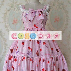 甘いシフォン弓かわいいジャンパー スカート ―Lolita0282