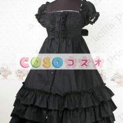 甘いスクエア ネック ピュア コットン カントリーロリータ ドレスをフリルします。 ―Lolita0297 2