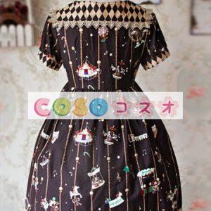 甘い茶色の綿弓ロリータ ワンピース ―Lolita0306