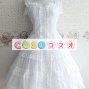 甘いボタン ポリエステル ロリータ ドレス―Lolita0323 2