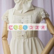 女性の白いフリルの付いたシフォン カントリーロリータ ドレス ―Lolita0427 2