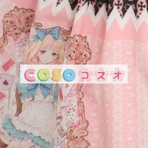 甘いピンク スクエア ネック レース キュート ロリータ ジャンパー スカート ―Lolita0434