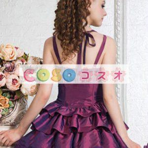 コルセット モーブ ポリエステル 可愛い パーティー  ―Lolita0538