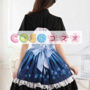 オンブル ブルー スター プリント レースかわいいロリータ ドレス ―Lolita0658 2