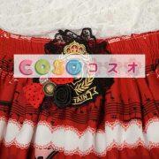 エレガントな赤レース ゴスロリ スカートを印刷 ―Lolita0679 2