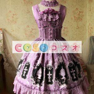 ロリータ服 可愛い 新作 コットン カジュアル  ―Lolita0795