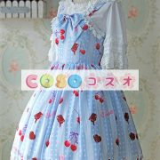 陽気なプリントとレース トリム甘いロリータ ジャンパー ドレス ―Lolita0849 2