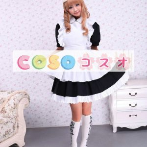 コットンワンピース ロリィタワンピース メイド 白いエプロン 半袖 ―Lolita0892