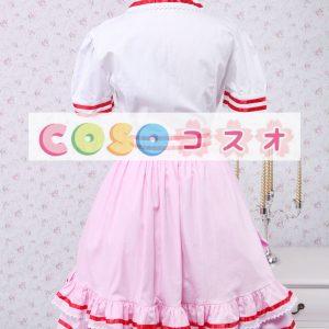 ロリータセパレート,ホワイト&ピンク リボン ショートスリーブ スィート コットン  ―Lolita0911