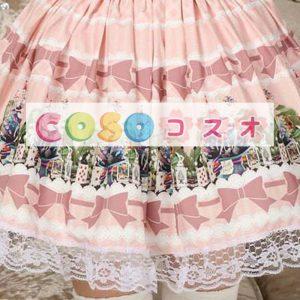 素敵なピンクのレース ゴスロリ スカートを印刷 ―Lolita0448