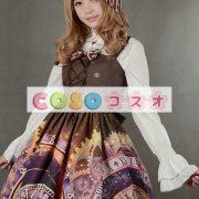 紫のロリータ ドレス ストラップ プリント シフォン ドレス ―Lolita0791 2