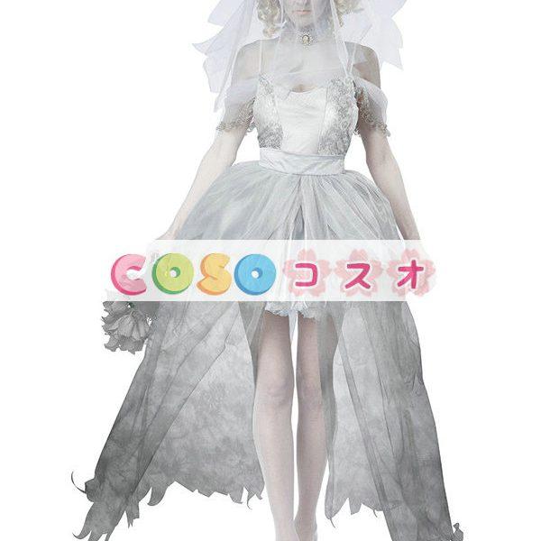 ハロウィン 新作 コスチューム 女性用 ホワイト―festival-0006