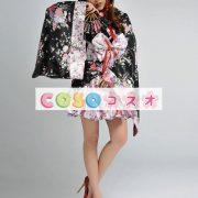 ハロウィングッズ ニンジャ 女性用 大人用 きもの ブラック―festival-0010 2