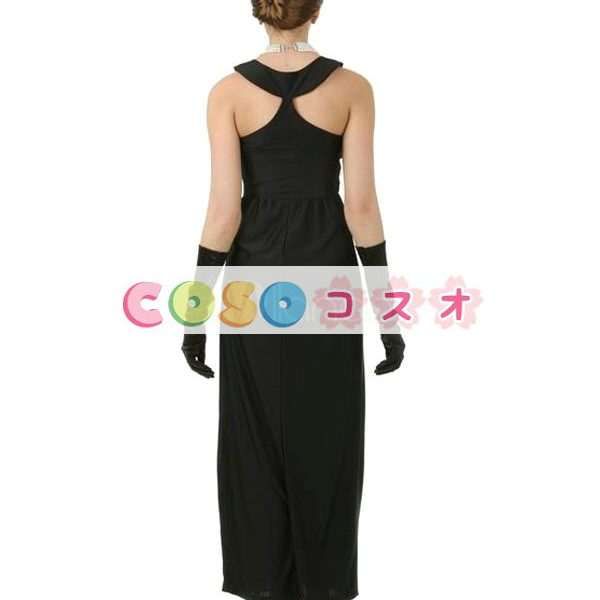 オードリー・ヘップバーン コスチューム ブラック ハロウィン 合成繊維―festival-0183