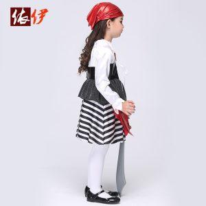 海賊服キッズ ハロウィン 衣装 仮装 コスチューム海賊服 かいぞく/子供用 女の子 キッズ 男の子 コスチューム コスプレ変装 セー-halloween-trz0725-0010
