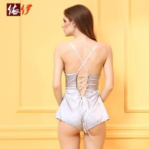 セクシーランジェリー ドレス 透かし彫り 単色 バックレス コスプレ 女性用 セクシー -halloween-trz0725-0100