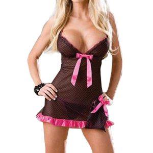 セクシーランジェリー ドレス 透かし彫り 単色 バックレス 女性用 セクシー -halloween-trz0725-0113