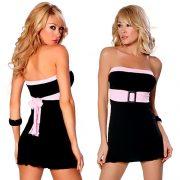 クラブドレス ブラック ボートネック ポリエステル ノースリーブ  -halloween-trz0725-0167 2