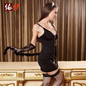 コスチューム衣装 バニーガール ハロウィン セクシー ブラック 大人用 女性用 -halloween-trz0725-0238