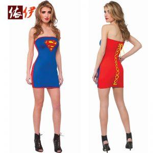 ハロウィン スーパーマン コスチューム セクシー スーパーヒーロー コスチュームコ-halloween-trz0725-0249
